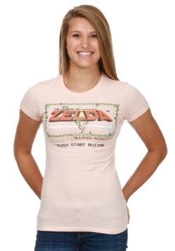 Legend Of Zelda Start Screen Juniors T-Shirt