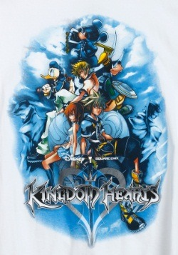 Kingdom Hearts Game On Group White T-Shirt1