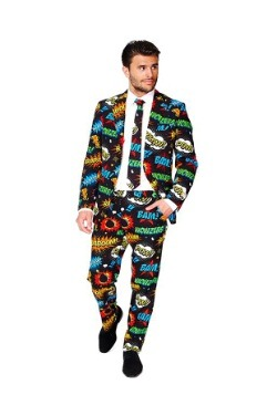 Mens Opposuits Badaboom Comic Suit