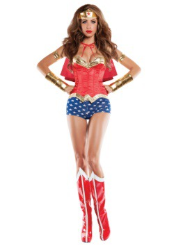 Corseted Wonder Lady Costume