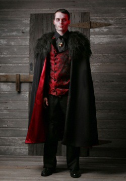 Deluxe Men's Vampire Costume Plus Size