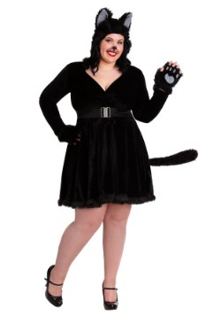Womens Black Cat Plus Size Costume
