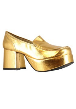 Men's Gold Daddio Pimp Shoes