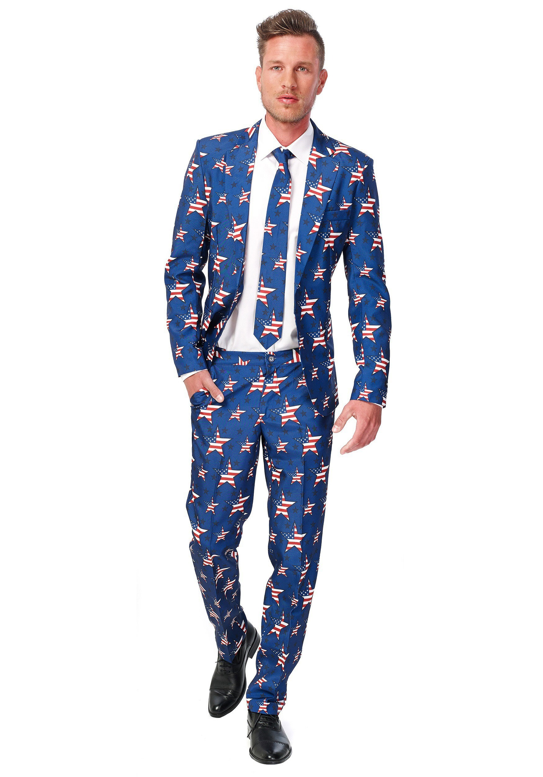 Men\'s SuitMeister Basic Stars and Stripes Suit Costume