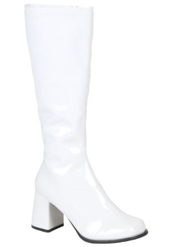 Women's White Costume Boots