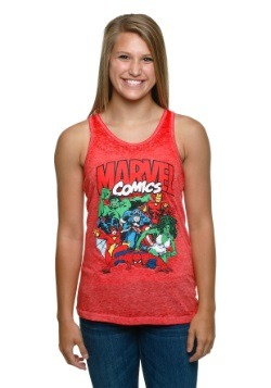 Marvel Comics Group Shot Racer-Back Tank Top