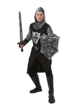 Men's Plus Size Black Knight Costume