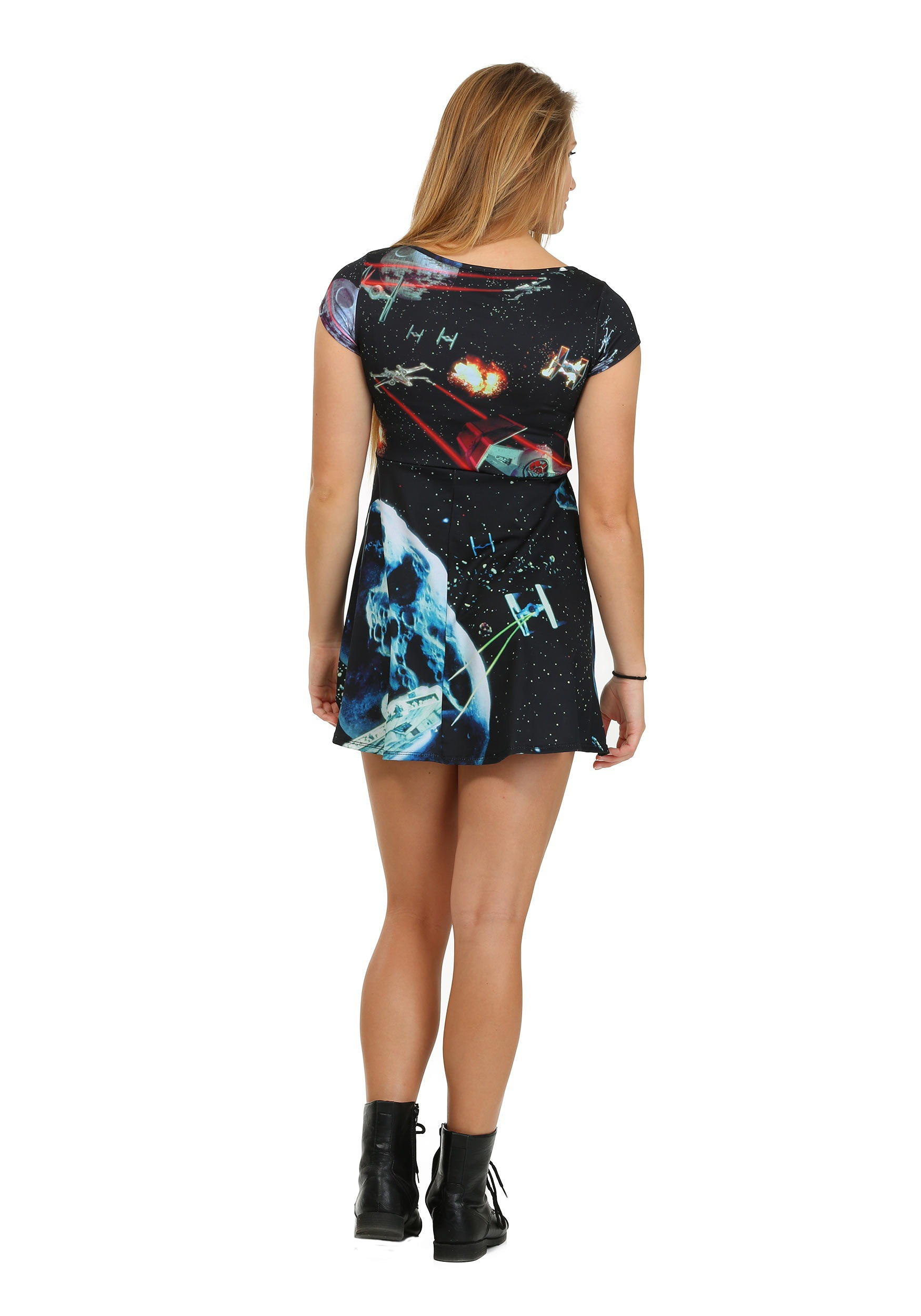 3d75d2a21f Womens Star Wars Starfighters Sublimated Skater Dress