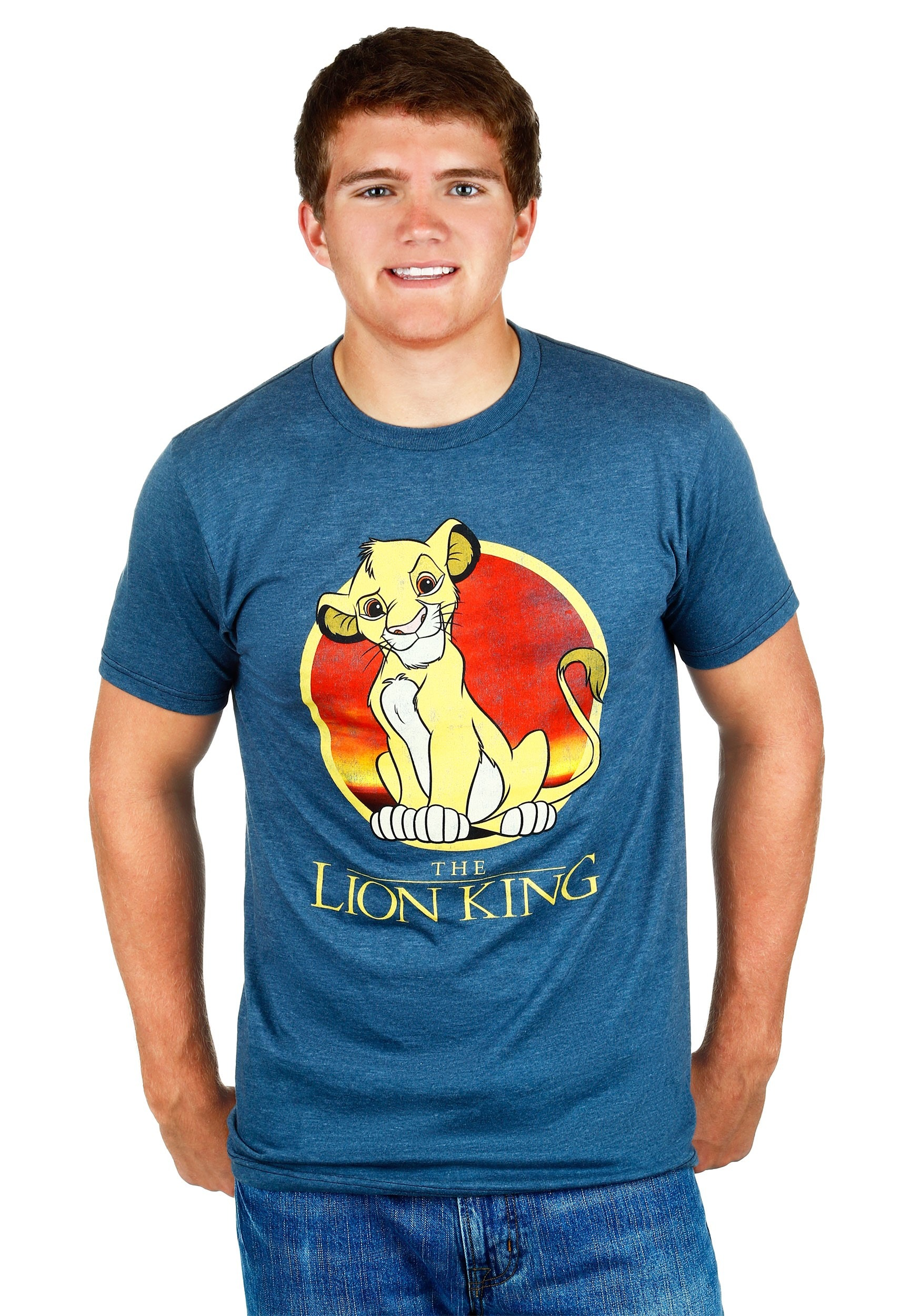 d70ead14 Mens Lion King Simba Circle T-Shirt