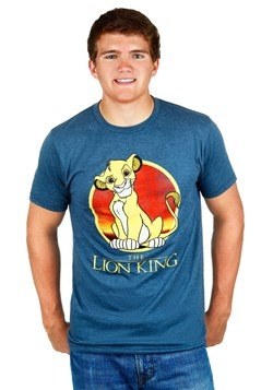 Mens Lion King Simba Circle T-Shirt