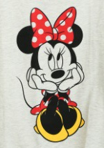 Minnie Mouse Sweet Sit Juniors French Terry Shirt2