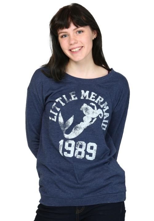 Little Mermaid 1989 Swim Juniors French Terry Shirt