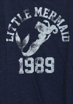 Little Mermaid 1989 Swim Juniors French Terry Shirt2