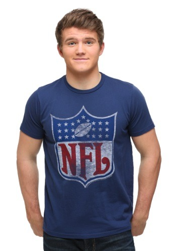 NFL Navy Logo Men's T-Shirt