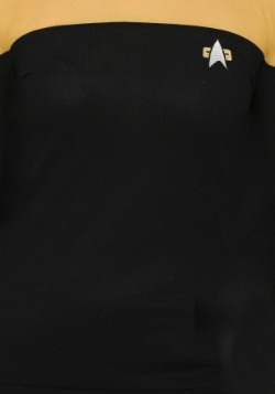 Star Trek Juniors Sheer Yoke Gold Sweater2