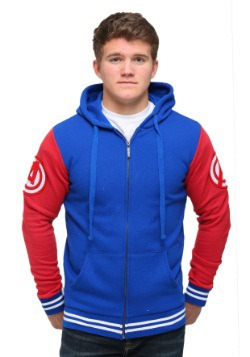 Captain America Men's Varsity Hooded Sweatshirt