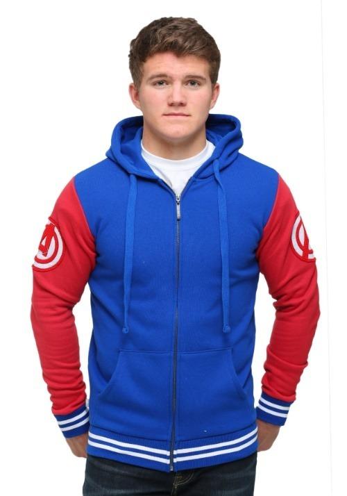 Captain America Men's Varsity Hooded Sweatshirt