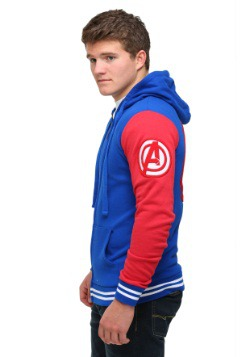 Captain America Men's Varsity Hooded Sweatshirt3