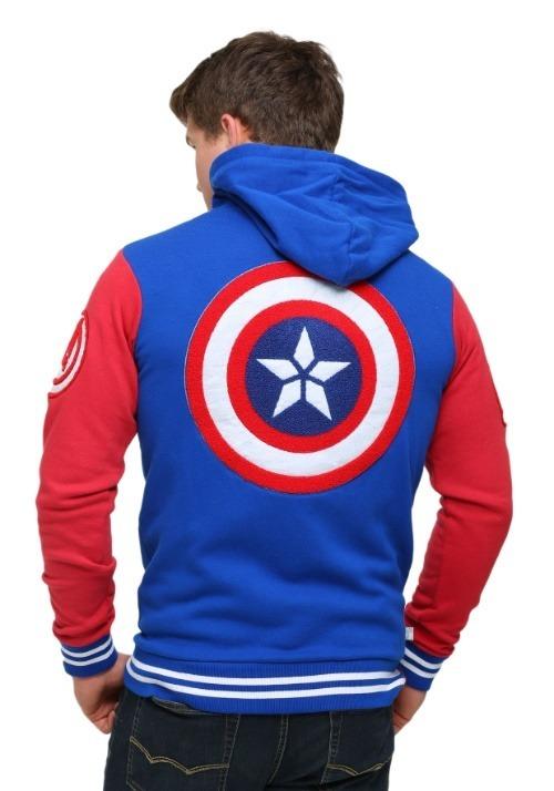 Captain America Men's Varsity Hooded Sweatshirt2