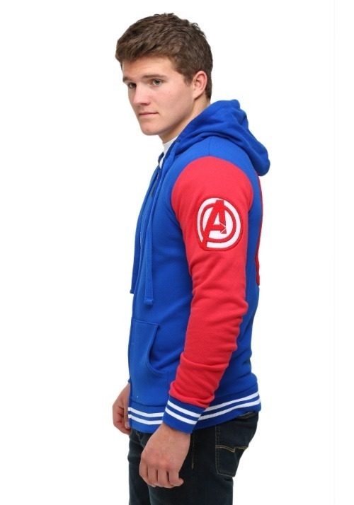 Captain America Men's Varsity Hooded Sweatshirt3