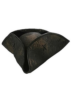 Black Tricorne Pirate Hat