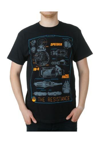 Star Wars 7 Vehicle Schematics T-Shirt