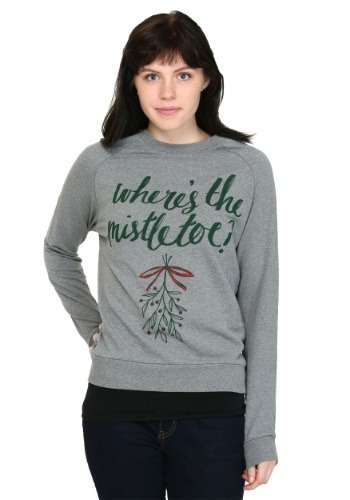 Wheres The Mistletoe French Terry Pullover Juniors