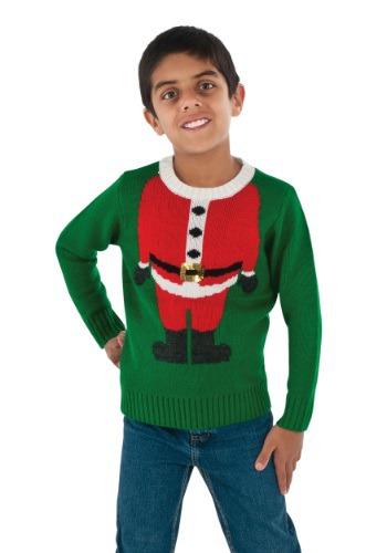 Child Santa Head Christmas Sweater
