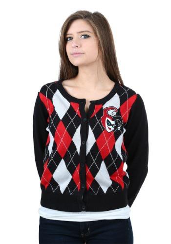 Harley Quinn Raglan Sleeve Cardigan Juniors