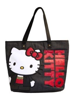 Hello Kitty Black Tote Purse