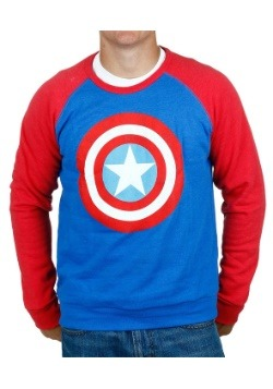 Captain America Raglan Sleeve Pull Over