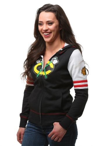 Chicago Blackhawks Big Time Attitude Womens Hoodie