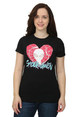 Spider Gwen Heart Logo Juniors T-Shirt