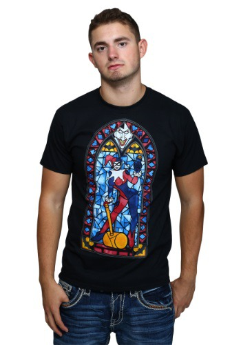 Harley Quinn Stained Glass Mens T-Shirt