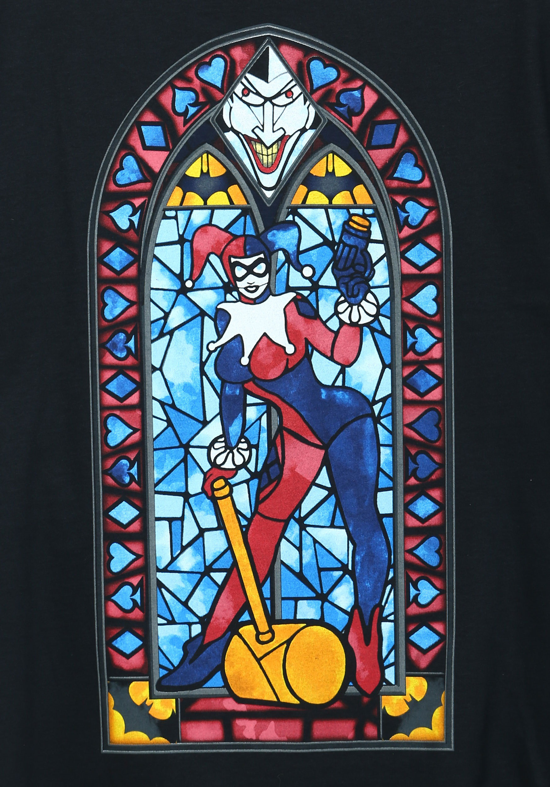 harley quinn stained glass mens t shirt. Black Bedroom Furniture Sets. Home Design Ideas