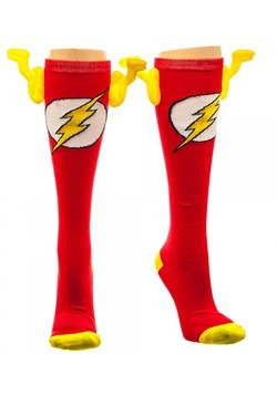DC Comics Flash Knee High Wing Socks Alt 1