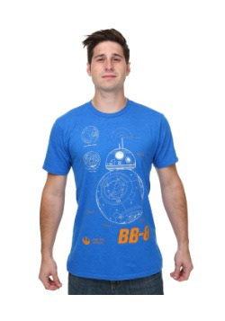 Star Wars Episode 7 BB-8 Plans Mens T-Shirt