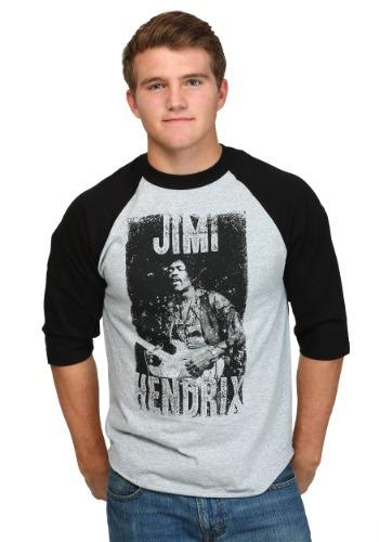 Jimi Hendrix Rockin Mens Raglan