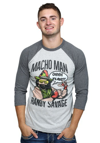 Macho Man Randy Savage Mens Raglan