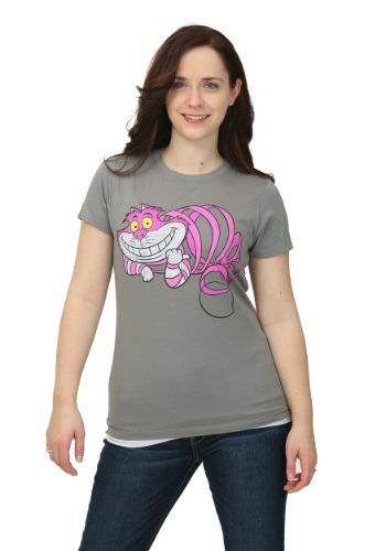 Alice In Wonderland Transparent Cheshire Juniors T-Shirt