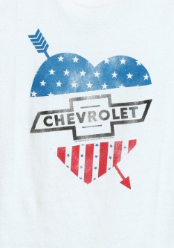 Chevrolet Arrow Heart Juniors T-Shirt2