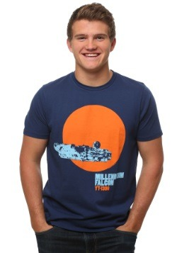 Star Wars Millenium Falcon In Front Of Sun T-Shirt