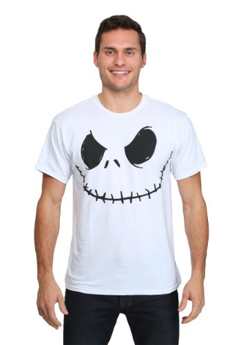 Smiling Jack Skellington White T-Shirt