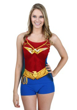 Wonder Woman Costume Cami And Short Set