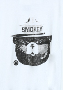 Smokey the Bear Black & White Ringer Tee2