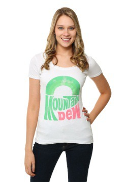 Mountain Dew Juniors Scoop Neck T-Shirt-Update