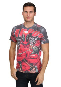 Deadpool Deadly Skills Men's Sublimated T-Shirt