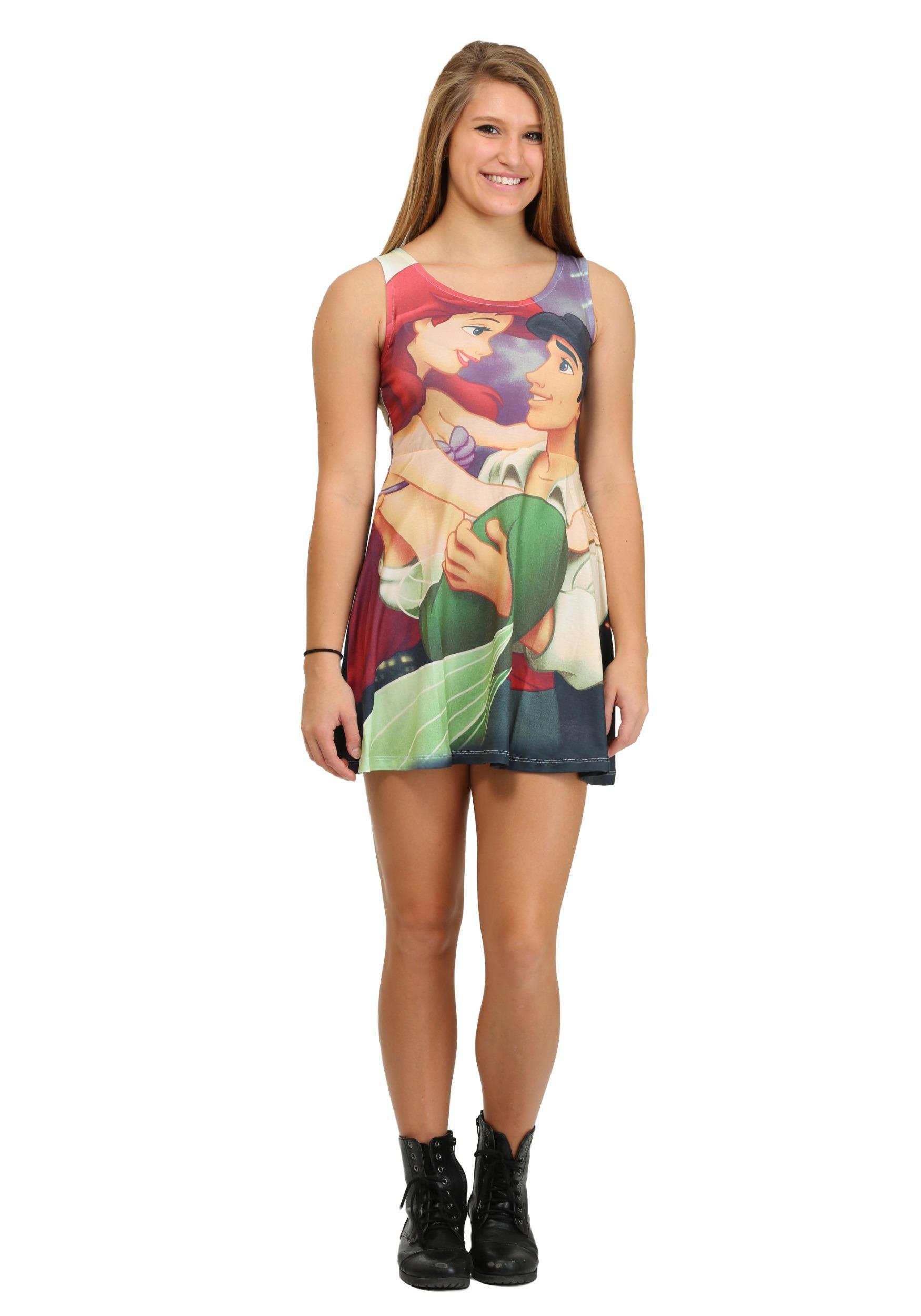 716689f81fef Little Mermaid Love Sublimated Juniors Tank Dress