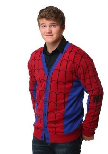 Spiderman Mens Cardigan