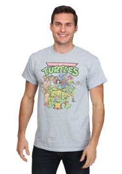 TMNT Classic Group Shot Turtles & Baddies Men's T-Shirt